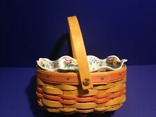1999 Longaberger Basket with Orange accent with flower liner