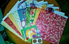 Winter / Holiday Scrapbook Page Kit - 12x12 K&Co Papers, Ribbons, Tags & More!