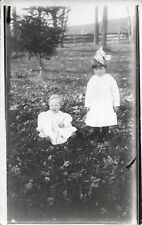 Two Children outside in Blair WI Real Photo RPPC NICE Vintage Postcard not used