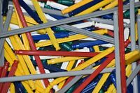 300 KNEX RODS Random Mixed Bulk Lot Standard Replacement Parts K'NEX
