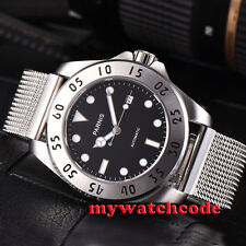 43mm Parnis black dial Sapphire Glass 21 jewels miyato Automatic mens Watch P791