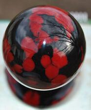 "Custom Hand Made Sanwa Ball Top ""Real Stone"" Black and Red Jasper"