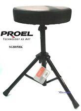 Proel Sgb85 BK Sgabello per Batteria Chitarra Tastiera regolabile in altezza