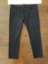 New Dsquared2 Mens Black Pants With  Zippers Size 38