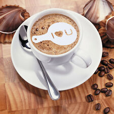 16pcs/Set Latte Coffee Art Stencil Foam Craft Decorate Mould Diameter Tools