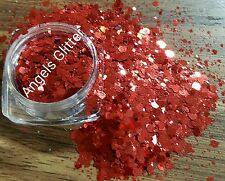 Nail glitter 5g LADY IN RED multicut glitter for acrylic/gel