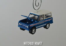 Vintage Style 1967 Ford Bronco 4x4 Police Truck Christmas Ornament 1/64 SUV