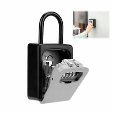 4 Digit Combination Password Safety Key Box Lock Wall-mounted Padlock Organizer