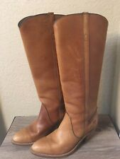 Vintage Frye 7355 Tall Leather High Heel Boots Made In USA Women's 8 B