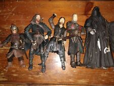 Lot 5 Lord of The Rings Action Figures Marvel 2002 2003,Poseable, Weapons,Swords