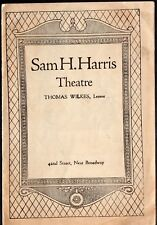 WHITE COLLARS - Vintage 1925 Sam H Harris Theatre Program NYC - Edith Ellis