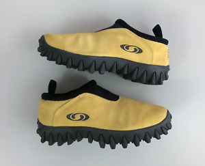 Ultra Rare Archive SALOMON Contagrip CX Thinsulate Suede Yellow Shoes Size 40