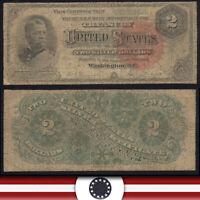1886 $2 SILVER CERTIFICATE BILL *HANCOCK NOTE*   Fr 242  B9325288
