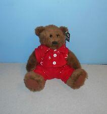 "ProFlowers 8"" Sitting Christmas Flake Teddy Bear Stuffed Plush Lovey Cuddle Pal"