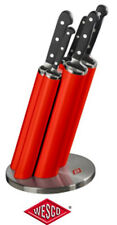 Wesco Messerblock Knife Pipe inkl. 5 Messer aus hochwertigem Edelstahl in rot