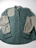 Cabelas Womens Padded Hunting Shirt Size XL Green Long Sleeve Button Down
