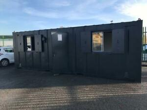24ft x 9ft  Open Plan Anti-Vandal Office Container - Ex Salford