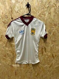 1980/83 West Ham Adidas Original Away Football Shirt White & Claret No. 2