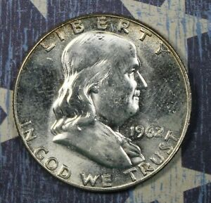 1962 FRANKLIN SILVER HALF DOLLAR COLLECTOR COIN *FREE SHIPPING*