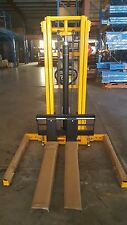 MANUAL STACKER 1 ton HYDRAULIC PALLET LIFTER WALKIE FORK LIFT HAND FORKLIFT
