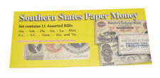 American Civil War Replica 11 x Confederate Southern States Paper Money Currency