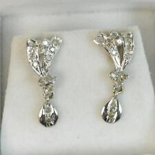 Screw Back (pierced) Drop/Dangle SI1 Fine Diamond Earrings