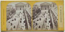 Paris instantané Rue Royale La Madeleine Photo Stereo Vintage Albumine c1865