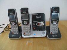 AT & T Cordless Phone 5.8 Digital Answering System 3 Handsets Model TL72308