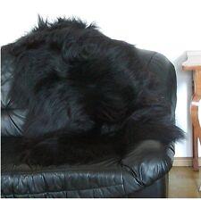 Heitmann Felle wuschliges Nordlandschnuckenfell schwarz, ca. 125 cm lang