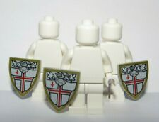 Lego 3 Shield Shields St George Cross Minifigure Not Inc Knight Soldier Army