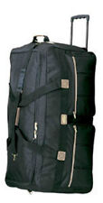 "36"" Rolling Wheeled Duffel Bag  8396 Luggage Black  Wheels Duffelbag Free Ship"
