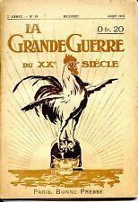 LA GRANDE GUERRE DU XXe SIECLE - N°19 - Août 1916