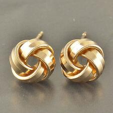 Lovely  9K Gold Filled Love Knot Stud Earrings,F3412