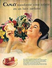 PUBLICITE ADVERTISING  1961   CAMAY  savon