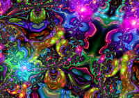 Psychedelic Trippy colors A4 Art Print Poster