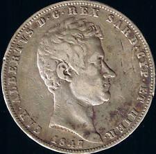 ITALIE - 5 LIRE ARGENT - 1847 P