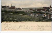 Meissen Litho-AK 1903 nach Radebeul-Oberlössnitz gelaufen Albrechtsburg St. Afra