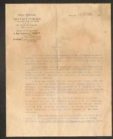"""PARIS (V°) ECOLE de TRAVAUX PUBLICS """"Directeur Léon EYROLLES"""" en 1929"""