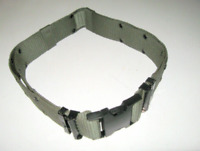 US ARMY Military SURPLUS Equipment Pistol Web Belt Green Black Buckle Large