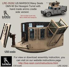 Live Resin 1/35 US MARSOC/Navy Seals GMV-M Six Hexagon Turret w/Ammo Cradle Side