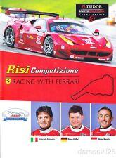 2014 Risi Competizione Ferrari F458 Italia GTLM Petit Le Mans IMSA TUSC postcard