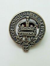 """1917 Canada Ww1 Veteran's Act Service Badge """"For Honourable Service"""" #5150"""