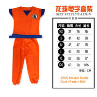 KIDS Unisex DRAGON BALL Son Goku kungfu Suit Cosplay Costumes Super Saiyan Lot
