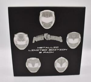 Loot Crate Power Rangers Figurines Metallic Limited Edition 5 Pack Exclusive