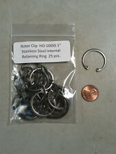 """1"""" Internal Stainless Steel Retaining Rings Rotor Clip Ho-100ss 10 Pc."""