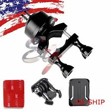 360 Rotating Swivel Helmet Self Shot Pole Mount For Gopro 2 3 3+ 4 with QD Buck