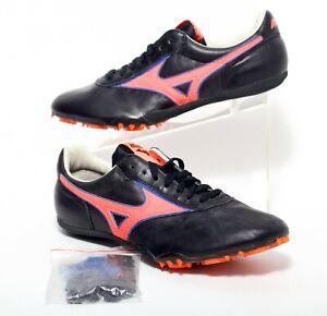 Mizuno Sprint FR33L Men's Track Shoes Spikes Size 9 Black Orange Blue