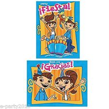 MAYA and MIGUEL INVITATIONS and THANK YOU NOTES (8) ~ Birthday Party Supplies