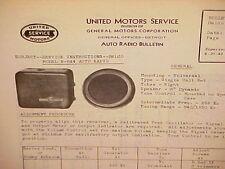 1937 CHEVROLET BUICK CADILLAC UNITED MOTORS DELCO GM RADIO SERVICE MANUAL R-644