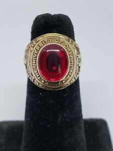 Circa 1941 University of Oklahoma 10k Class Ring 11.7gm Size 7 1/2
